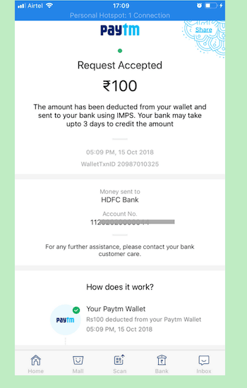 How To Transfer Money From Paytm Wallet To Bank