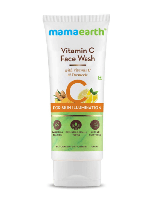 Mamaearth Vitamin C Face Wash with Vitamin C and Turmeric for Skin