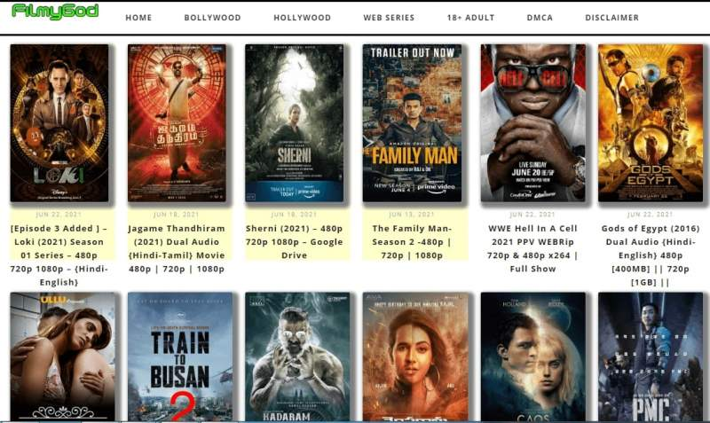 Filmygod.in 2021 – Download Bollywood, Hollywood, Dubbed Movies